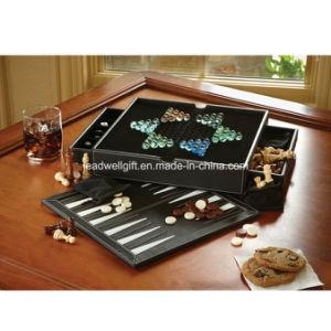 Classics 5-in-1 Backgammon Set Five Classics Games pictures & photos