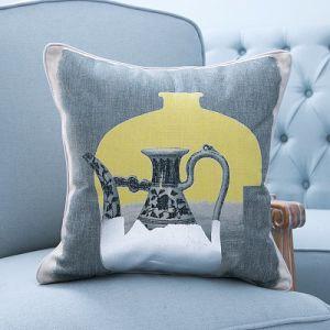 Foil/Gold&Silver Printed Decorative Cushion/Pillow (MX-57A/B/C/D/E/F) pictures & photos