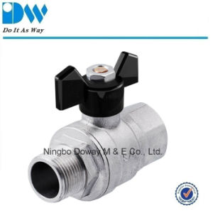 Brass Gas Ball Valve with Butterfly Handle Fxm pictures & photos