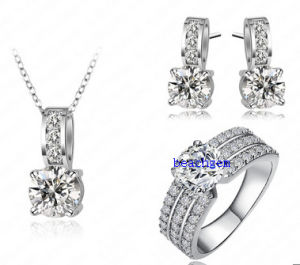Cubic Zirconia 925 Sterling Silver Jewelry Set (S1272)