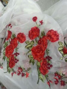 New Arrival Design Flower Embroidery Lace Fabric for Dress pictures & photos