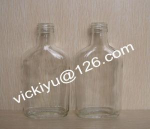 180ml ~300ml Flat Glass Wine Bottle, Grain Spirit Glass Bottles