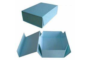 Paper Printing Gift Folding Blue Box