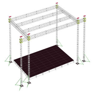 DJ Cheap Square 350X350 Spigot Aluminum Line Array Speaker Audio Layer Lift Tower DJ Stage Truss pictures & photos
