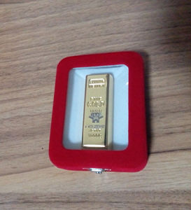Gold USB Flash Drive with Gift Box pictures & photos
