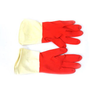 Latex Household Gloves (red/white) pictures & photos