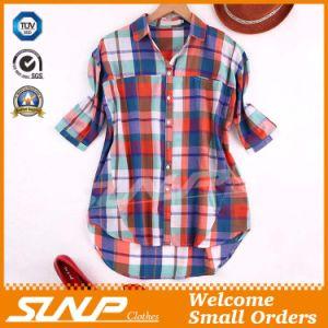 China Clothing Women Fashion Check T-Shirt