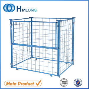 Stacking Wire Mesh Storage Pallet Cage with Wooden Pallet pictures & photos