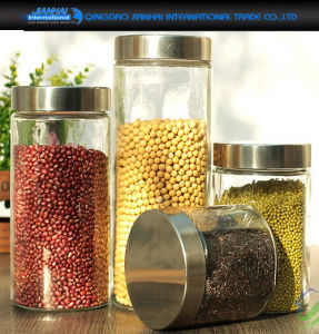Household Container Glass Jar for Food Storage with Screw Cap pictures & photos