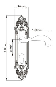 Gold Plated Classic Patterned Brass Villa Door Lock pictures & photos