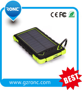 Portable External Battery 5000mAh Power Bank with Huge Panel Solar Battery Charger pictures & photos