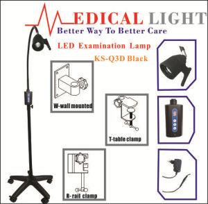 Minston LED Examination Lamp Ks-Q3d Black Mobile with 7 Level Digital Pressing Brightness Control