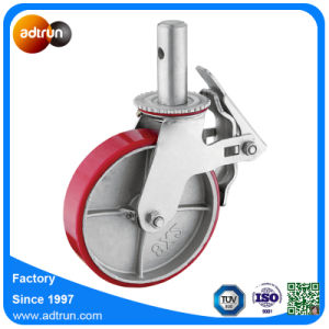 Heavy Duty Scaffolding Casters Iron Core PU Wheels 450 Kg Capacity pictures & photos