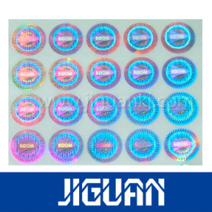 Hot Stamping Pet Hologram Silver Sheet Sticker pictures & photos