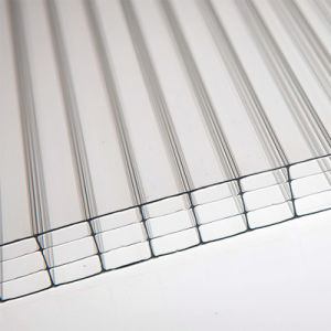 China Supplier UV Coated Four-Wall Hollow Polycarbonate Sheet for Plastic pictures & photos