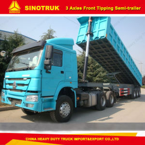 50 Tons Truck Trailer 3 Axle Front Dump/Tipper Semi Trailer pictures & photos