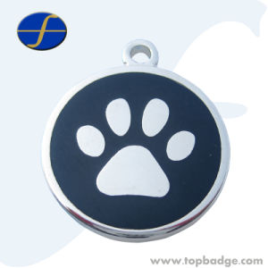 Personalized Engraved Designers Round Paw Pet ID Tag Dog Tag Cat Tag (FTDT2009A) pictures & photos
