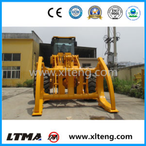 Chinese 8 Ton Wheel Loader with Log Grapple for Sale pictures & photos