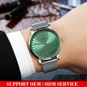 Yxl-198 Hot Sale Promotion Mesh Strap Watch Men Stainless Steel Quartz Wrist Watch Mens Black Face Luxury Businessman Watches pictures & photos