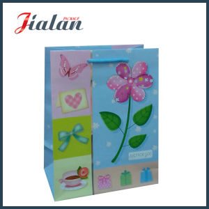 Customize with 3D & Hot Stamping Flower Shopping Gift Paper Bag pictures & photos