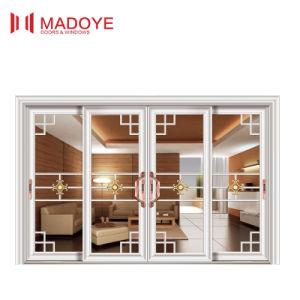 Upscale Aluminium Sliding Door with Decorative Grill pictures & photos