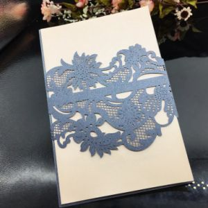Fancy Wedding Invitation Cards Holloewd-out Greeting Card Printing pictures & photos