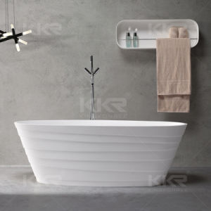 2017 New Ellipse Design White Stone Free Standing Tub pictures & photos