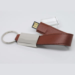 1g 4GB 8g Leather USB Flash Drive 128MB Pendrive USB Stick (TF-0253) pictures & photos