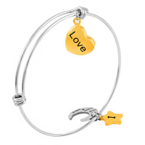 Stainless Steel Cremation Urn Charms Expandable Bangles Bracelets for Memorial pictures & photos