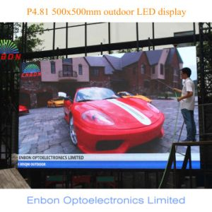 P4.81mm Outdoor Die Cast Rental LED Display Panel (500X500mm) pictures & photos