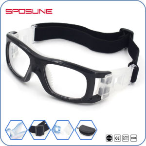 Factory Wholesale White PC Basketball Dribble Goggles Anti Scratches Highly Clarity of Vision Lens Soccer Glasses pictures & photos
