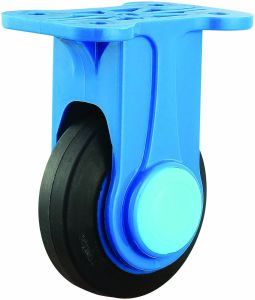4/5 Inch Nylon Bracket Rubber Rigid Caster Wheel for Trolley pictures & photos