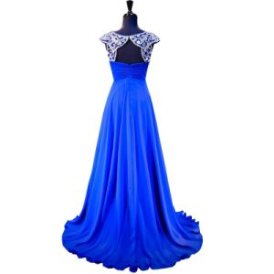 Beaded Evening Formal Gowns A-Line Custom Chiffon Bridesmaid Prom Dresses Z601 pictures & photos