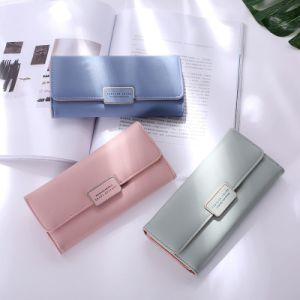 2017 New Women Wallet Japan and South Korea Simple Fashion Large Capacity Multi-Card Buckle Wallet pictures & photos