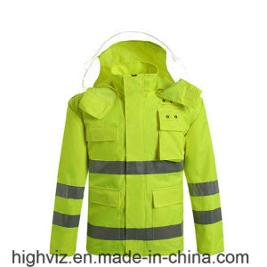 Reflective Rain Jacket with ANSI107 (C2440) pictures & photos