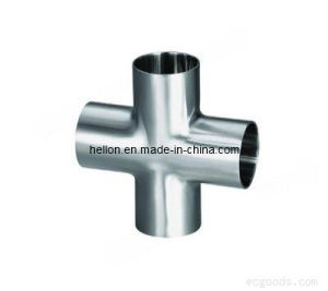 Sanitary Stainless Steel Clamped 4-Way Cross Pipe Fitting pictures & photos