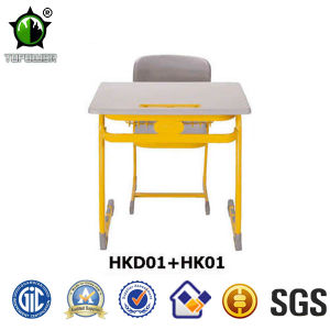 School Furniture Wood Single Student Desk and Chairrs (HKD01+HK01)