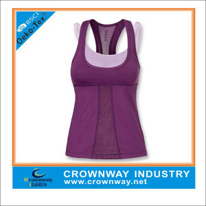 Customize Performance Plain Sports Gym Yoga Tank Tops pictures & photos