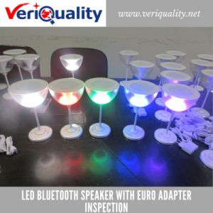 LED Bluetooth Speaker with Euro Adapter Quality Control Inspection Service in Shenzhen pictures & photos