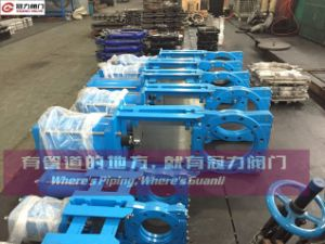 Pneumatic Slurry Knife Gate Valve with Blue Color pictures & photos