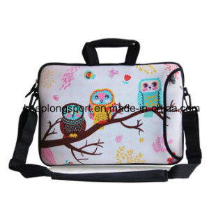 Customized Sublimation Printing Laptop Bag with Shoulder Belt with Colorful Pattern pictures & photos