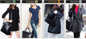 New Design Brand Genuine Leather Factory Cowhide Inclined Shoulder Women′s Handbag pictures & photos