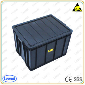 ESD Black Plastic Tote Box for Electronic Industrial pictures & photos