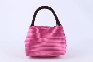 Promotional Factory Direct Sale Pink Stripped Lunch Bag Handbag Fashion pictures & photos