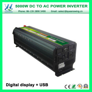 Intelligent 5000W Power Converter DC12/24V AC220/240V Inverters (QW-M5000) pictures & photos