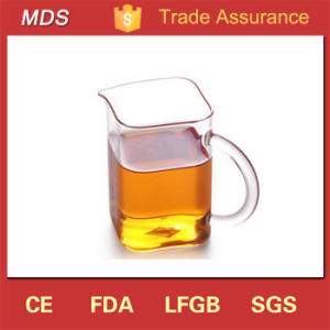 Top Selling Custom Square Bottom Glass Tea Cup with Handle pictures & photos