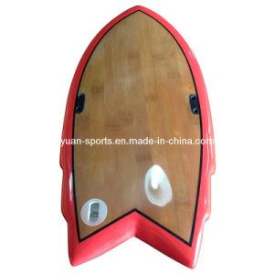 Hand Board Surf Board with Polished Wood Veneer Surface