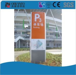 Aluminium Curved Parking Pylon Signage pictures & photos