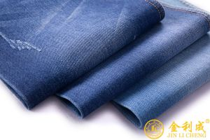 "Light Blue Indigo Stretch Denim Fabric - 62"" Wide - 13 Oz pictures & photos"