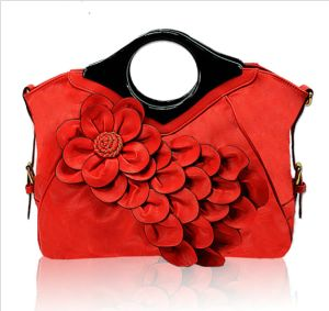 Fashionable Designer PU Leather Tote Hand Bag with Flower (XC046) pictures & photos